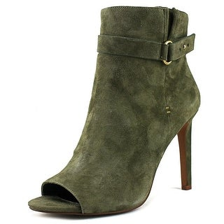 BCBGeneration Cassia Women  Peep-Toe Suede Green Ankle Boot