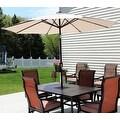 Sunnydaze Aluminum 9 Foot Solar Patio Umbrella with Tilt & Crank - Thumbnail 20