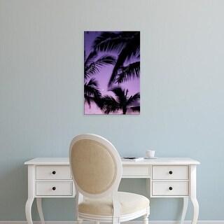 Easy Art Prints John & Lisa Merrill's 'Hawaii Palm Trees With Moon' Premium Canvas Art