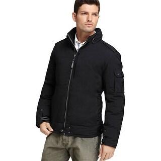 Marc New York Echo Black Down Puffer Jacket X-Large Concealed Hoodie