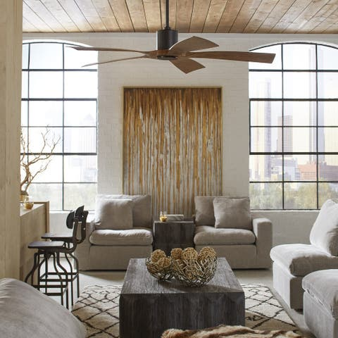Aviator Indoor and Outdoor 5-Blade Smart Ceiling Fan 70in with Wall Control (Light Kit Sold Separately)