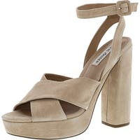 Steve Madden Womens Jodi Open Toe Ankle Strap Classic Pumps