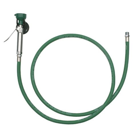 Haws 8901B Wall-mounted body spray with 8-foot pressure rated hose, including wall mounting bracket. - Plastic