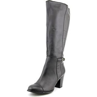 Giani Bernini Ellee Wide Calf Women Round Toe Leather Knee High Boot