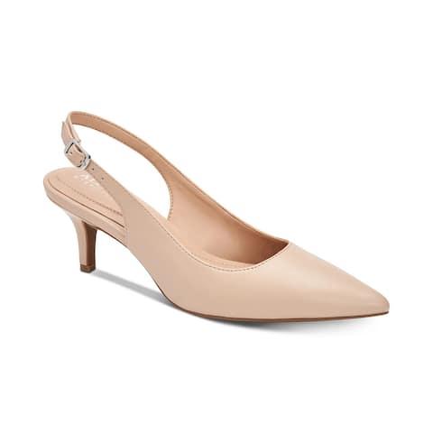 Alfani Women's Step 'N Flex Babbsy Pointed-Toe Slingback Pumps Pink Size 7 - 7 W