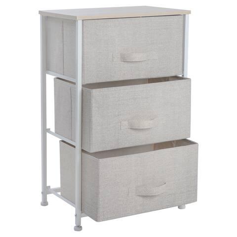 Simplify 3 Drawer Storage Chest in Beige