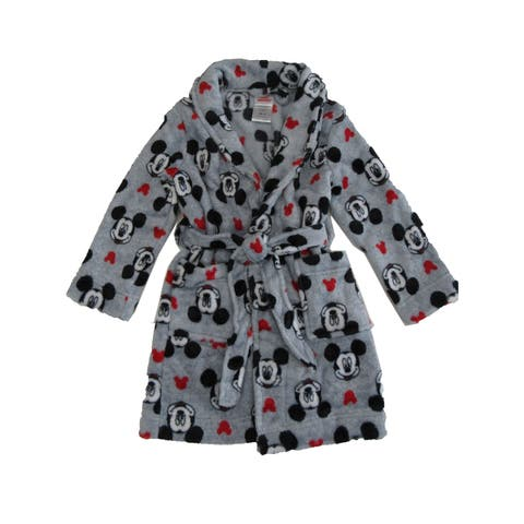 Disney Toddler Boys Gray Mickey Mouse Long Sleeve Robe