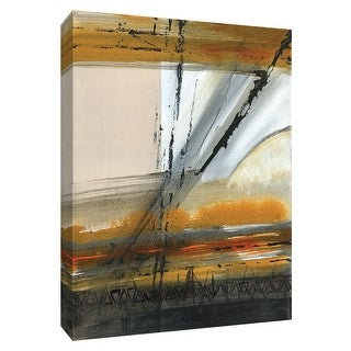 """PTM Images 9-148454  PTM Canvas Collection 10"""" x 8"""" - """"Brown Settlement III"""" Giclee Abstract Art Print on Canvas"""
