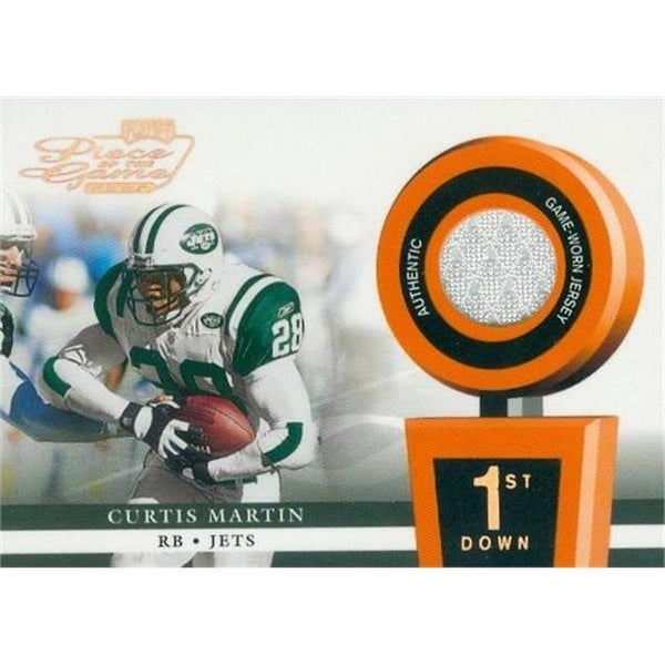 f5b76ea6d5e Shop Curtis Martin Player Worn Jersey Patch Football Card - New York - Free  Shipping On Orders Over  45 - - 23831749