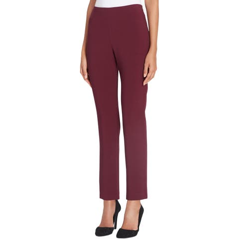Tahari ASL Womens Plus Dress Pants Straight Leg Comfort Waist