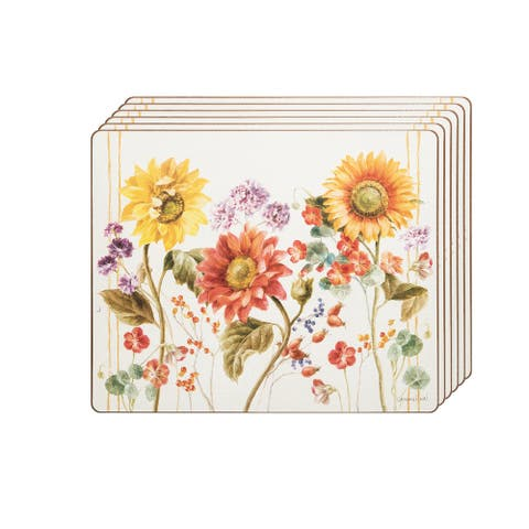 """Sunflower Patch Hardboard Placemat Set of 6 - 13"""" x 16"""""""