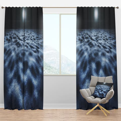 Designart 'Night With Fool Moon in Sky' Landscape Blackout Curtain Panel