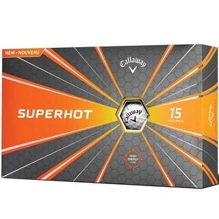Callaway 73794 Superhot 18 White Golf Balls - Pack of 15