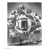 ''Balcony'' by M.C. Escher Fantasy Art Print (25.625 x 21.75 in.)