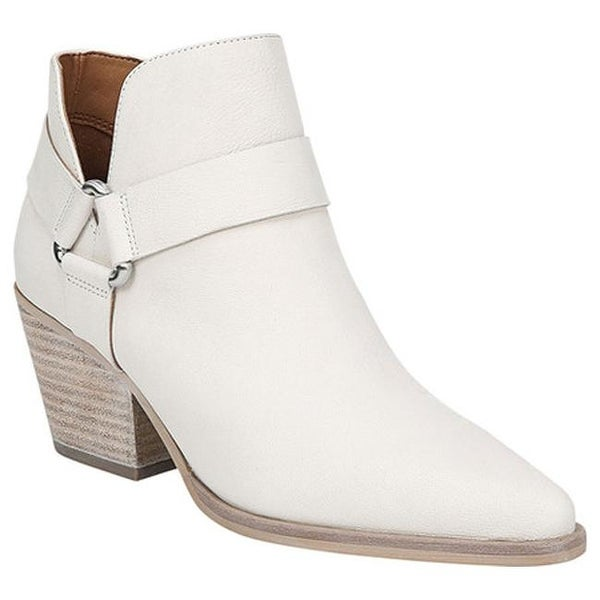 e1d4da6a3bf1 Sarto by Franco Sarto Women  x27 s Louella Ankle Bootie White Leather