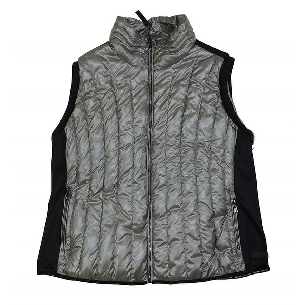 a7ff3fef80e Calvin Klein Performance Women  x27 s Plus Size Quilted Vest Grey Size  Extra Large