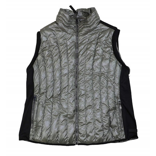 335e3f16 Calvin Klein Performance Women's Plus Size Quilted Vest Grey Size  Extra Large