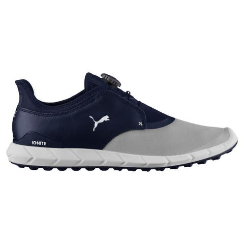 Puma Men's Ignite Spikeless Sport Disc Quarry/Peacoat Golf Shoes 189928-04