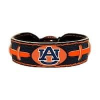 Auburn Tigers Team Color NCAA Gamewear Leather Football Bracelet