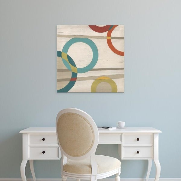 Easy Art Prints June Erica Vess's 'Circular Logic II' Premium Canvas Art
