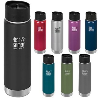 Klean Kanteen Wide Mouth 20 oz. Insulated Bottle with Cafe Cap 2.0