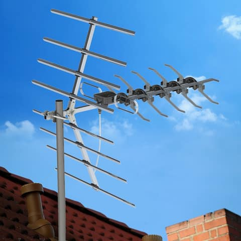 Frequency 470-790MHz/470-860MHz 10m 3C2V Double-head Black Wire Outdoor Antenna