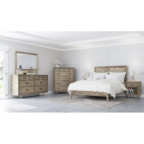 Abbyson Retro Mid-century Wood 6-piece Bedroom Set