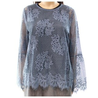 Glamorous Curve Women's Floral-Lace Sheer Blouse