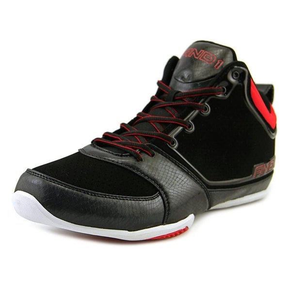 And1 Theme Men Round Toe Synthetic Black Basketball Shoe