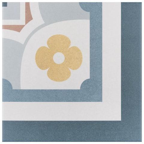 SomerTile 7.875x7.875-inch Piccola Saint Tropez Corner Porcelain Floor and Wall Tile