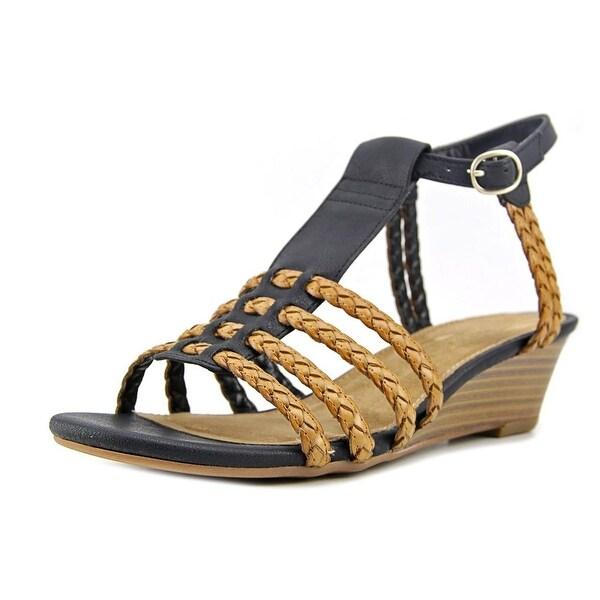 Aerosoles Bittersweet Women Open Toe Synthetic Black Gladiator Sandal