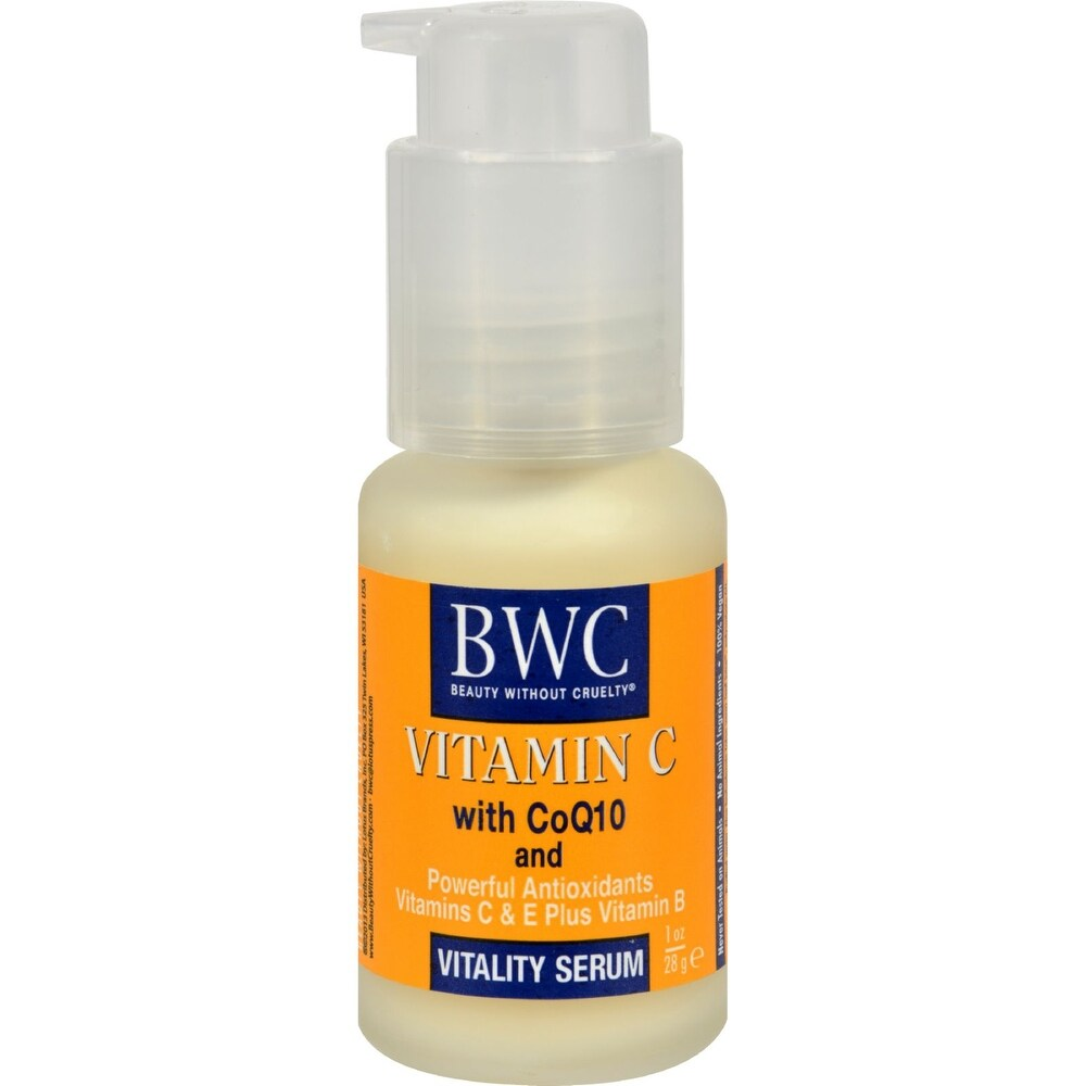 Beauty Without Cruelty Vitality Serum Vitamin C With CoQ10 - 1 fl oz -  Overstock