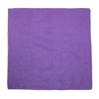 CTM® Cotton Solid Color Bandanas (Pack of 5 of Same Color) - One Size