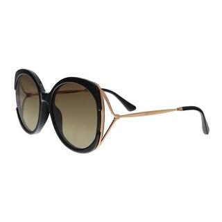 Jimmy Choo LILA/S 2M2 Black/Rose Gold Butterfly Sunglasses - No Size