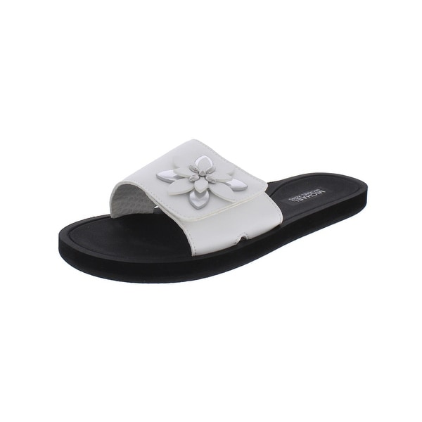 f405bf9bb484 Shop MICHAEL Michael Kors Womens Heidi Slide Sandals Metallic ...