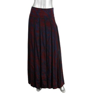 DKNY Womens Silk Printed Pleated Skirt - 10