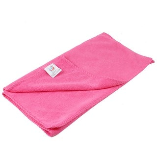 Pink Rectangular Microfiber Water Absorbent Pet Dog Poodle Drying Towel