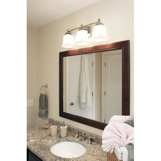 "Norwell Lighting 9713 Sapphire 6"" Tall 3 Light Bathroom Vanity Light with White Glass Shades"