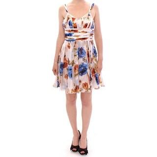 Dolce & Gabbana Dolce & Gabbana Multicolor floral silk shift dress