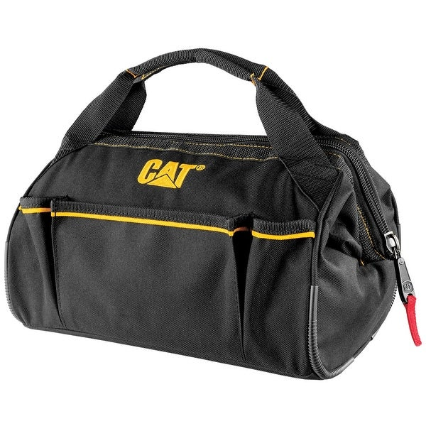 Cat 13 inch Widemouth Tool Bag High Visibility Interior 600D Polyester - 240042