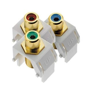Legrand ACRGBRCAFW1 Component Video RCA to F Kit - White