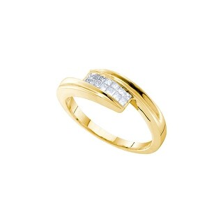 1/4Ctw Diamond Invisible Band Yellow-Gold 14K