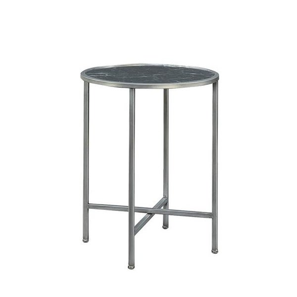 Gold Coast Faux Marble Round End Table In Black Free Shipping Today 22073660