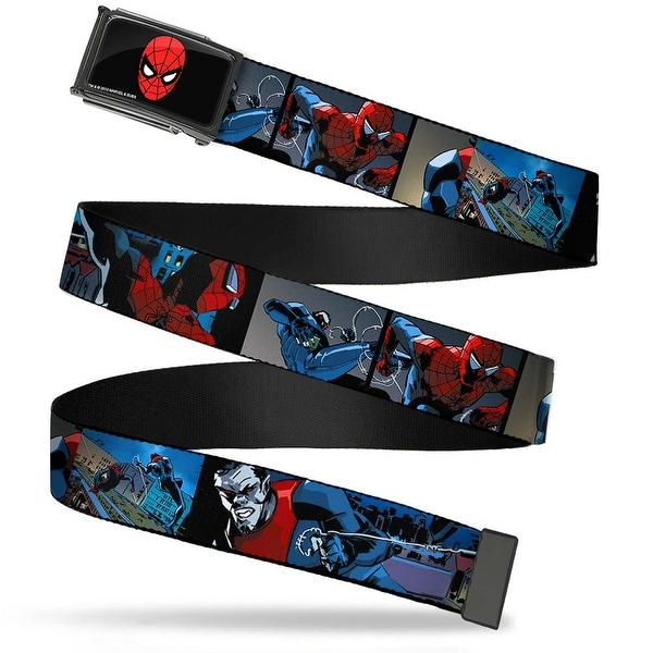 Marvel Universe Spider Man Face Fcg Chrome Spider Man & Morbius Action Web Belt