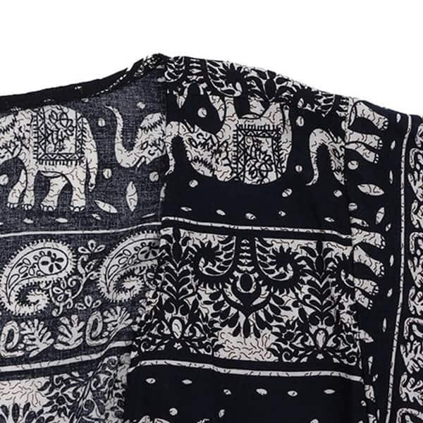 Women Casual Vintage Cardigan Ladies Summer Chiffon Floral Print Blouse Top #S4
