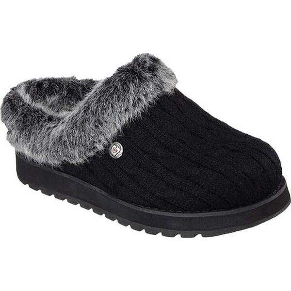 67af0f03089c Shop Skechers Women s BOBS Keepsakes Ice Angel Clog Slipper Black ...