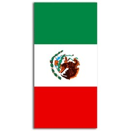 Mexico Flag Beach Towel 30x60