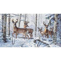 """18""""X10"""" 18 Count - Gold Collection Woodland Winter Counted Cross Stitch Kit"""