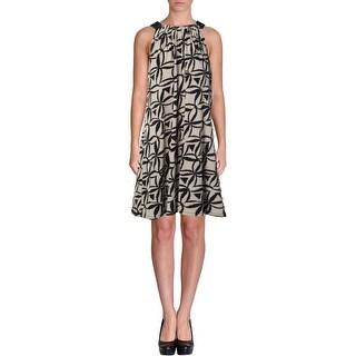 Calvin Klein Womens Built In Bra Halter Cocktail Dress