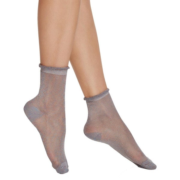 Free People Womens Ankle Socks Metallic Sheer - o/s